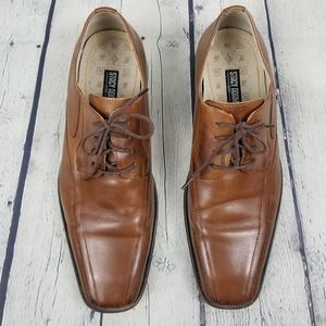 STACY ADAMS | leather lace-up heeled derby shoes
